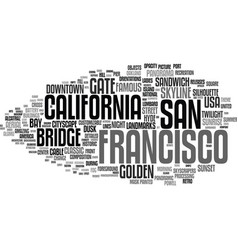 francisco word cloud concept vector image