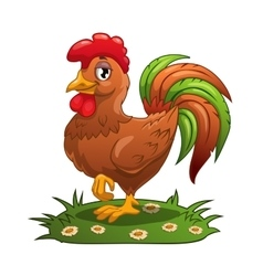 Funny cartoon cock vector image