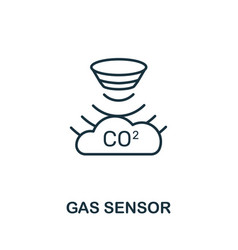 Gas sensor outline icon thin line style from vector