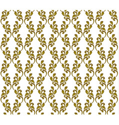 gold damask wallpaper vector image