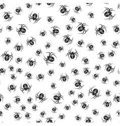 halloween spider background seamless vector image