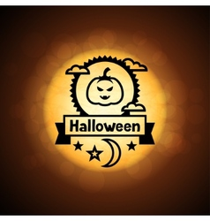 Happy halloween greeting card on background of vector