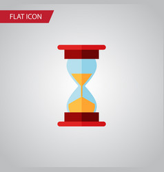 Isolated sand timer flat icon loading vector