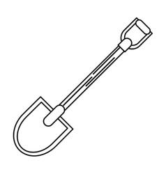 Isolated shovel tool design vector