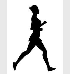 Jogger silhouette vector