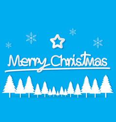 light blue christmas day paper postcard snowflake vector image