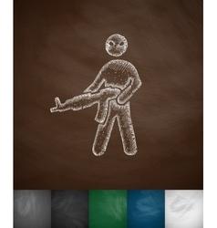 Man with a gun icon vector