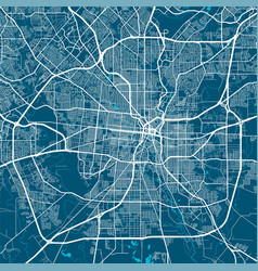 Map san antonio street art poster vector