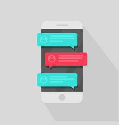 Mobile phone chat message notifications chatting vector