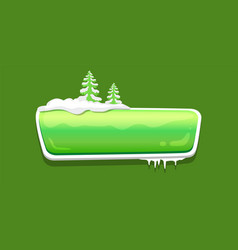 no text glossy web push button covered snow vector image