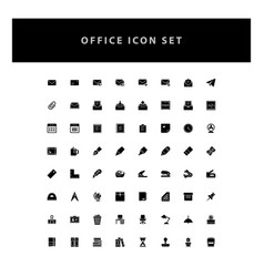 office icons set with glyph style design vector image