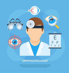 Ophthalmologist doctor icon copyspace poster vector