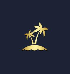 palm coconut tree tropic logo vector image