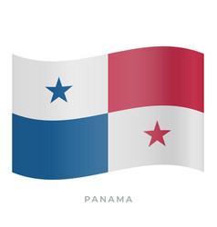 panama waving flag icon vector image
