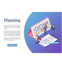 planning of schedule working tasks optimization vector image