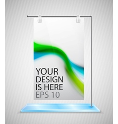 Poster stand banner vector