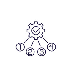 Process optimization line icon vector