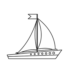 Sailing ship icon outline style vector image