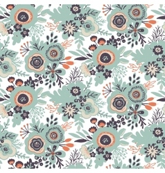 seamless pattern with bouquets of flowers vector image vector image