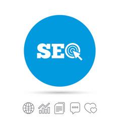 Seo sign icon search engine optimization symbol vector
