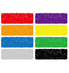 set colorful crayon texture backgrounds vector image