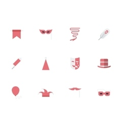 Set of masquerade simple flat icons vector