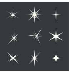 set of sparkle lights vector image