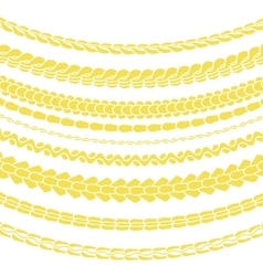 Set of Variety Gold Chain Silhouettes vector image