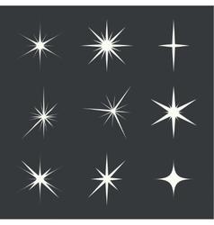 Set sparkle lights vector