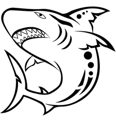 shark tribal tattoo vector image vector image