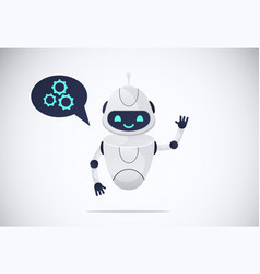 smiling chatbot vector image