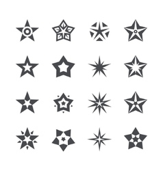 stars set on a white background vector image