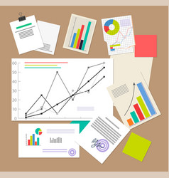 statistic documents colorful vector image