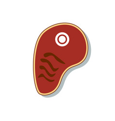 steak meat icon isolated sign symbol flat style vector image