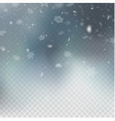 Stock realistic falling snow vector