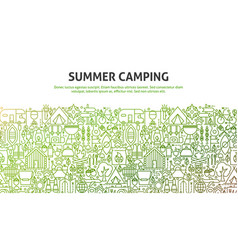 Summer camping concept vector