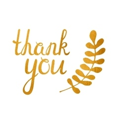 Thank you golden inscription vector image
