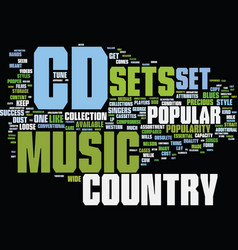 The popular country cd sets text background word vector