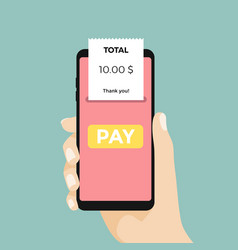 Using a mobile phone payment vector