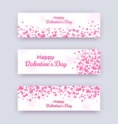 valentine day banner set white love coupons vector image