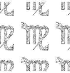 Virgo zodiac sign hand drawn horoscope vector
