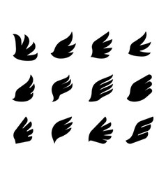 wing icons eagle hawk or phoenix minimal bird vector image