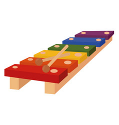 xylophone on white background vector image