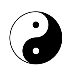 yin yang symbol icon design vector image