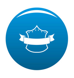 badge king icon blue vector image vector image