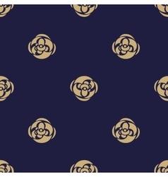 Golden Luxury flower pattern on dark background vector image vector image