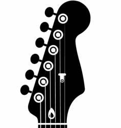 guitar head vector image vector image