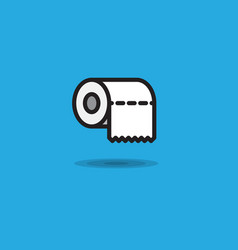 icon toilet paper rollroll of toilet paper vector image