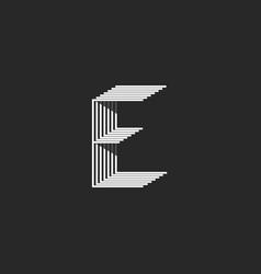 monogram letter e logo black and white many vector image