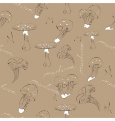 mushroom background vector image